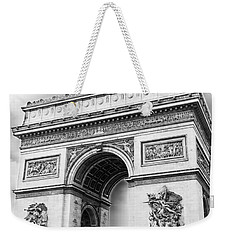 Arch Of Triumph - Paris - Black And White Weekender Tote Bag