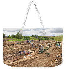 Archaeologists At Work At Roman Vindolanda Weekender Tote Bag