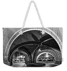 Arched In Black And White Weekender Tote Bag