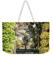 Weekender Tote Bag featuring the photograph Arched Path by Colleen Kammerer