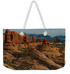 Weekender Tote Bag featuring the photograph Arches National Park by Gary Lengyel