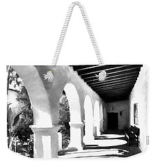 Weekender Tote Bag featuring the photograph Arches Of Southern California Bw by Mel Steinhauer