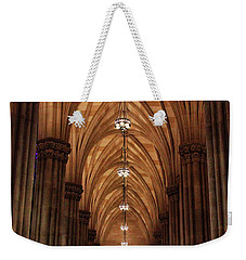 Weekender Tote Bag featuring the photograph Arches Of St. Patrick's Cathedral by Jessica Jenney