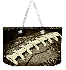 Archie Griffin Quote Weekender Tote Bag by David Patterson