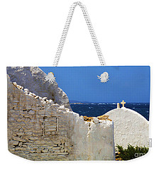 Architecture Mykonos Greece 2 Weekender Tote Bag by Bob Christopher