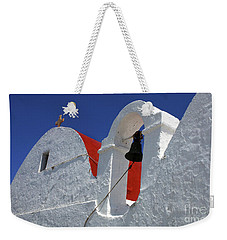 Architecture Mykonos Greece Weekender Tote Bag by Bob Christopher