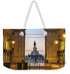 Arco Da Rua Augusta At Sunrise Weekender Tote Bag