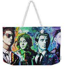 Weekender Tote Bag featuring the painting Arctic Monkeys by Richard Day