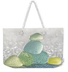 Arctic Spring Sea Glass Weekender Tote Bag