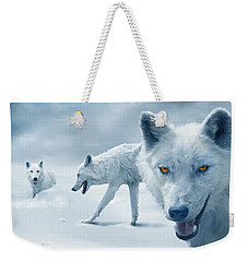 Arctic Wolves Weekender Tote Bag by Mal Bray