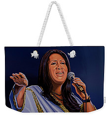Aretha Franklin Painting Weekender Tote Bag