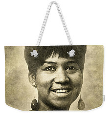 Aretha Franklin Queen Of Soul Weekender Tote Bag