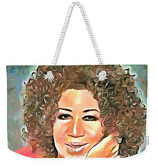 Aretha Franklin Weekender Tote Bag
