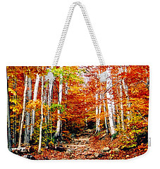 Arethusa Falls Trail Weekender Tote Bag by Greg Fortier