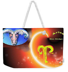 Weekender Tote Bag featuring the painting Aries by The Art of Alice Terrill