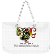 Aries Sun Sign Weekender Tote Bag