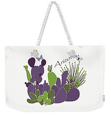 Weekender Tote Bag featuring the digital art Arizona Cacti by Methune Hively