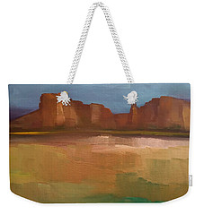 Weekender Tote Bag featuring the painting Arizona Calm by Michelle Abrams