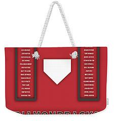Arizona Diamondbacks Art - Mlb Baseball Wall Print Weekender Tote Bag by Damon Gray