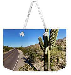 Weekender Tote Bag featuring the photograph Arizona Highway by Ed Cilley