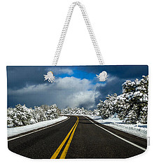 Arizona Snow Road Weekender Tote Bag