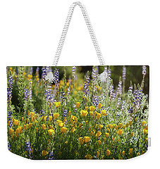 Weekender Tote Bag featuring the photograph Arizona Spring Wildflowers  by Saija Lehtonen