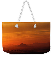 Weekender Tote Bag featuring the photograph Arizona Sunrise by Anne Rodkin