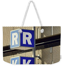 Weekender Tote Bag featuring the photograph Ark - This Way by Nikolyn McDonald