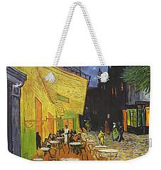 Arles Cafe Terrace At Night Weekender Tote Bag