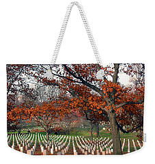 Arlington Cemetery In Fall Weekender Tote Bag