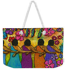 Arm In Arm - The Strongest Chain Weekender Tote Bag by Angela L Walker