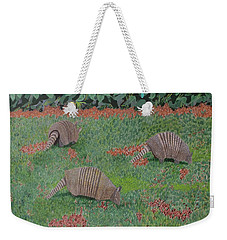 Armadillos In The Yard Weekender Tote Bag