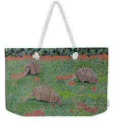 Armadillos In The Yard Weekender Tote Bag