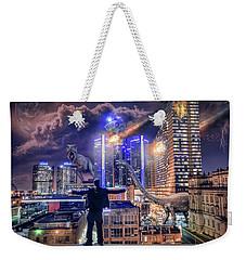 Weekender Tote Bag featuring the photograph Armageddon Detroit by Nicholas Grunas