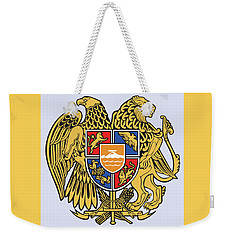 Weekender Tote Bag featuring the drawing Armenia Coat Of Arms by Movie Poster Prints