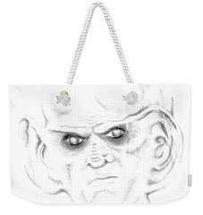 Weekender Tote Bag featuring the drawing Armin by Kim Sy Ok
