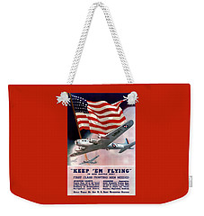 Army Air Corps Recruiting Poster Weekender Tote Bag