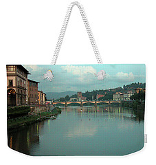 Weekender Tote Bag featuring the photograph Arno River, Florence, Italy by Mark Czerniec