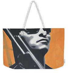 Arnold Schwarzenegger 2013 Weekender Tote Bag by Luis Ludzska