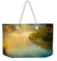Weekender Tote Bag featuring the photograph Around The Bend by Don Schwartz