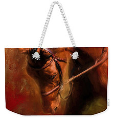Around The First Turn Equestrian Art Weekender Tote Bag