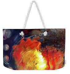 Weekender Tote Bag featuring the digital art Arrival by Linda Sannuti