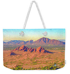 Arriving In Phoenix Digital Watercolor Weekender Tote Bag