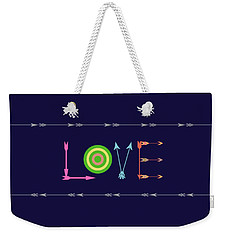 Arrow Love - Changeable Background Color Weekender Tote Bag