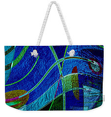 Weekender Tote Bag featuring the digital art Art Abstract With Culture by Sheila Mcdonald
