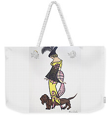 Art Deco  1920's Girls And Dogs Weekender Tote Bag by Nora Shepley