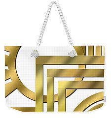 Art Deco 21 Transparent Weekender Tote Bag by Chuck Staley
