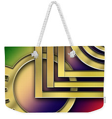 Weekender Tote Bag featuring the digital art Art Deco 25 by Chuck Staley