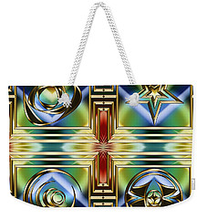 Art Deco 4 Panel Weekender Tote Bag