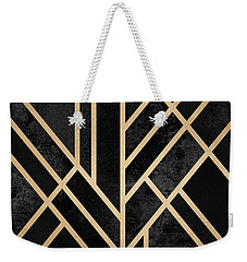 Art Deco Black Weekender Tote Bag